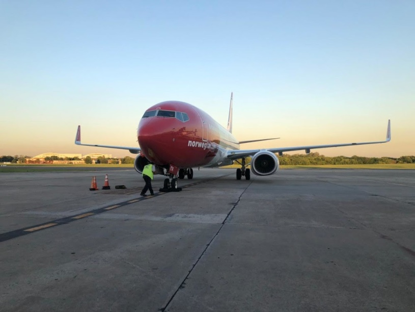 El cuarto avión de Norwegian Air Argentina ya llegó a Ezeiza
